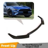 Carbon Fiber Front Lip Spoiler For Ford Mustang 2 Door 2018 2019 Bumper Spoiler Apron