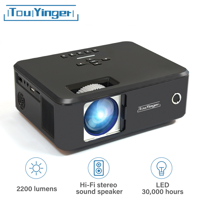 Big Sale Touyinger everycom X20 Mini LED projector LCD beamer suport full hd video portable home cinema TV theater videoprojecteur 3D VGA