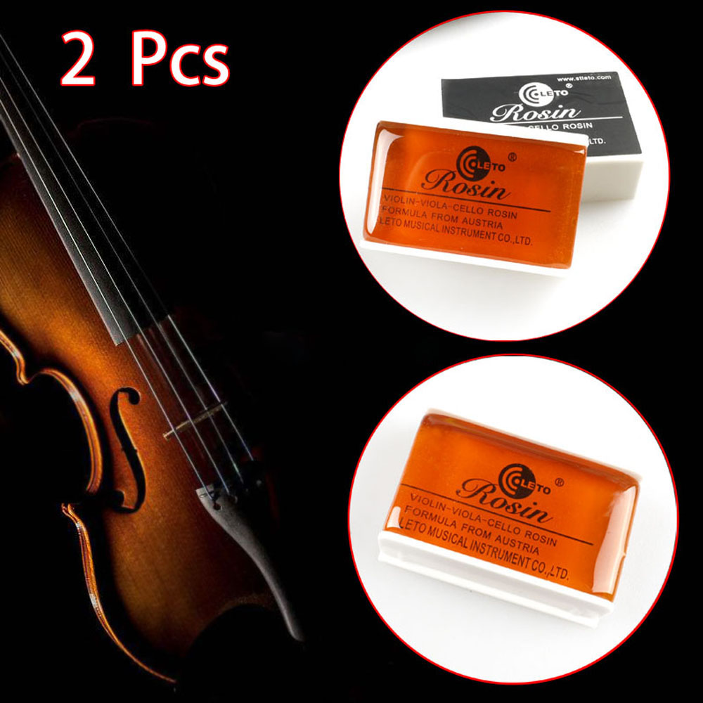 2 Pcs High Quality Bow Rosin Violin Colophony Greek Pitch Friction-increasing Orange Red For Bowed String Instrument Accessories