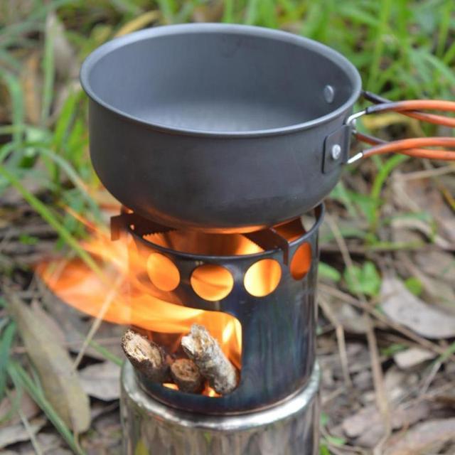 Outdoor Camping Pan Wood Stove Hiking Cookware Cooking Picnic Bowl Pot Pan Set Camp Cookware Outdoor Tableware Set Dropshipping