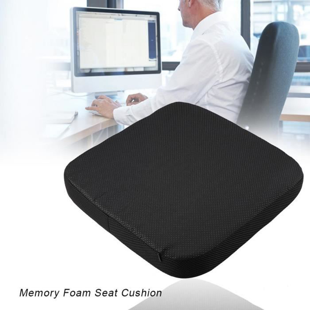Travel Office Chair Car Seat Cushion Non-Slip Coccyx Orthopedic Memory Foam Massage Chair Cushion Pad Back Pain Relief