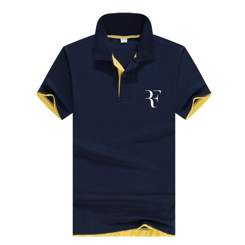 summer fashion Roger Federer perfect logo printed   polo   RF New men high quality social   Polo   shirts   Polo   Shirt for women and mens