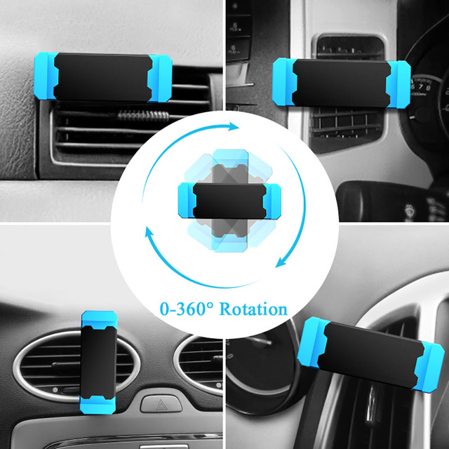 Hisomone Universal Car Phone Holder Stand Air Vent Mount Holder 360 Degreen For Phone Support 4-6 inch Holder Stand in Car 3