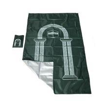 Moslim Draagbare Reizen Aanbidding Mat Waterdicht Aanbidding Gebed Mat Regen Doek Eenvoudige Deken Pocket Pad 105*60 cm