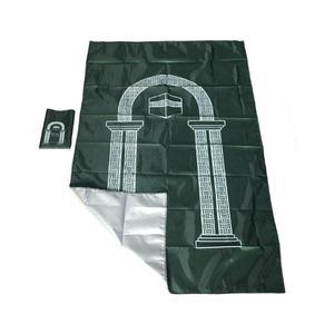 Image 1 - Muslim Portable Travel Worship Mat Waterproof Aanbidding Prayer Mat Rain Cloth Simple Blanket Pocket Pad 105*60cm