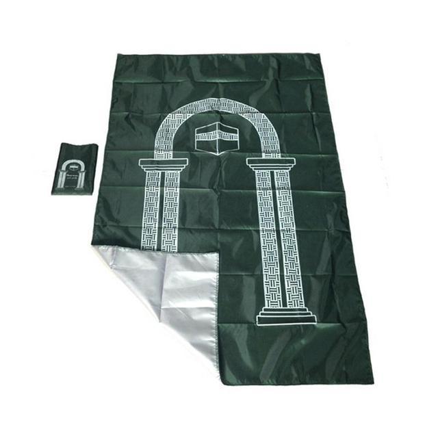 Muslim Portable Travel Worship Mat Waterproof Aanbidding Prayer Mat Rain Cloth Simple Blanket Pocket Pad 105*60cm