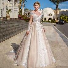 Ashley Carol A-Line Wedding Dress 2019 Long Sleeve