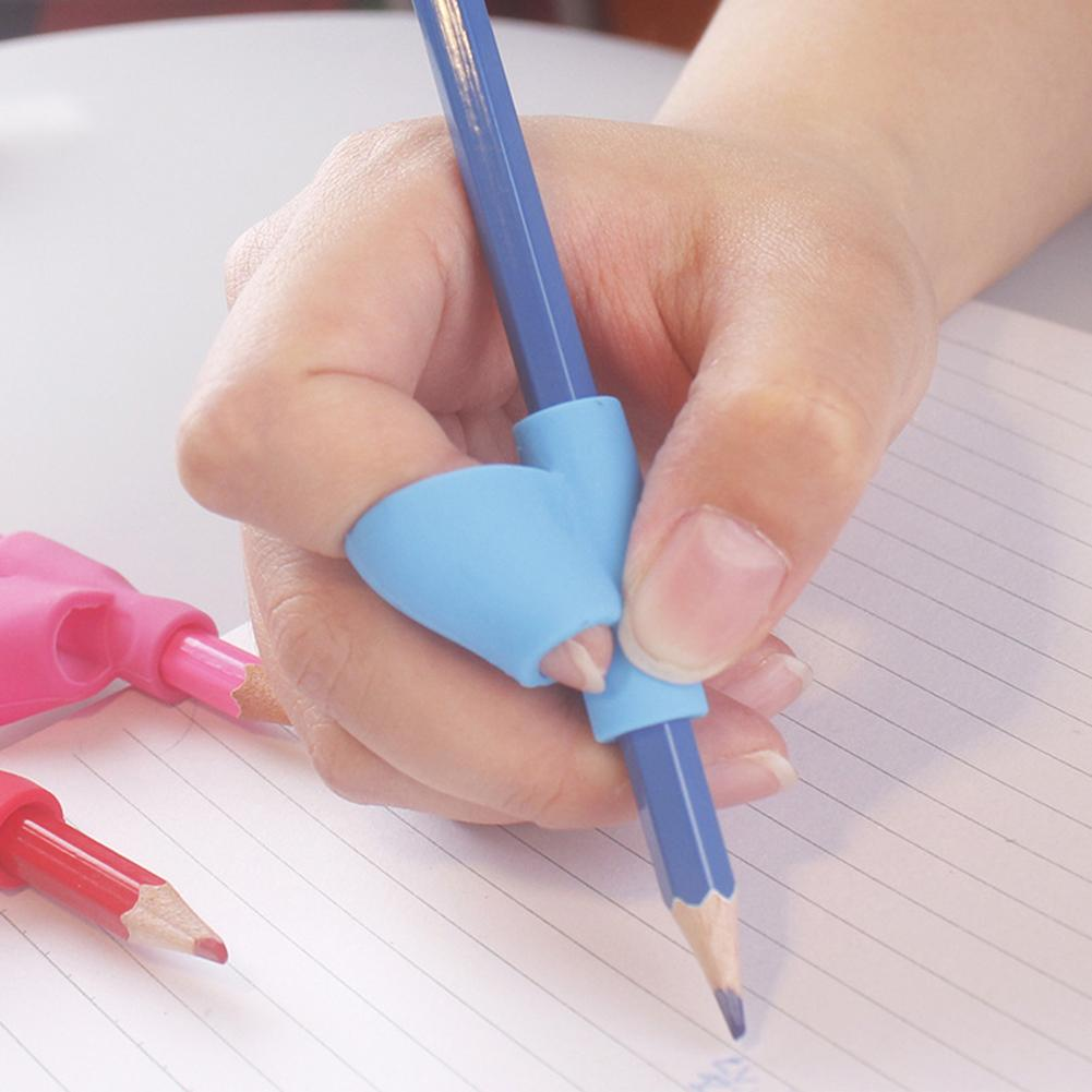 5Pcs Pencil Grip Ergonomic Writing Aid For Righties Kids Learning Hold Pen Writing Posture Correct Fit On Pencil Pen Crayon