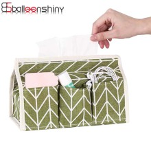 BalleenShiny Multifunction Tissue Storage Box Waterproof Fabric Cotton Remote Control Holder Organizer Office Tool