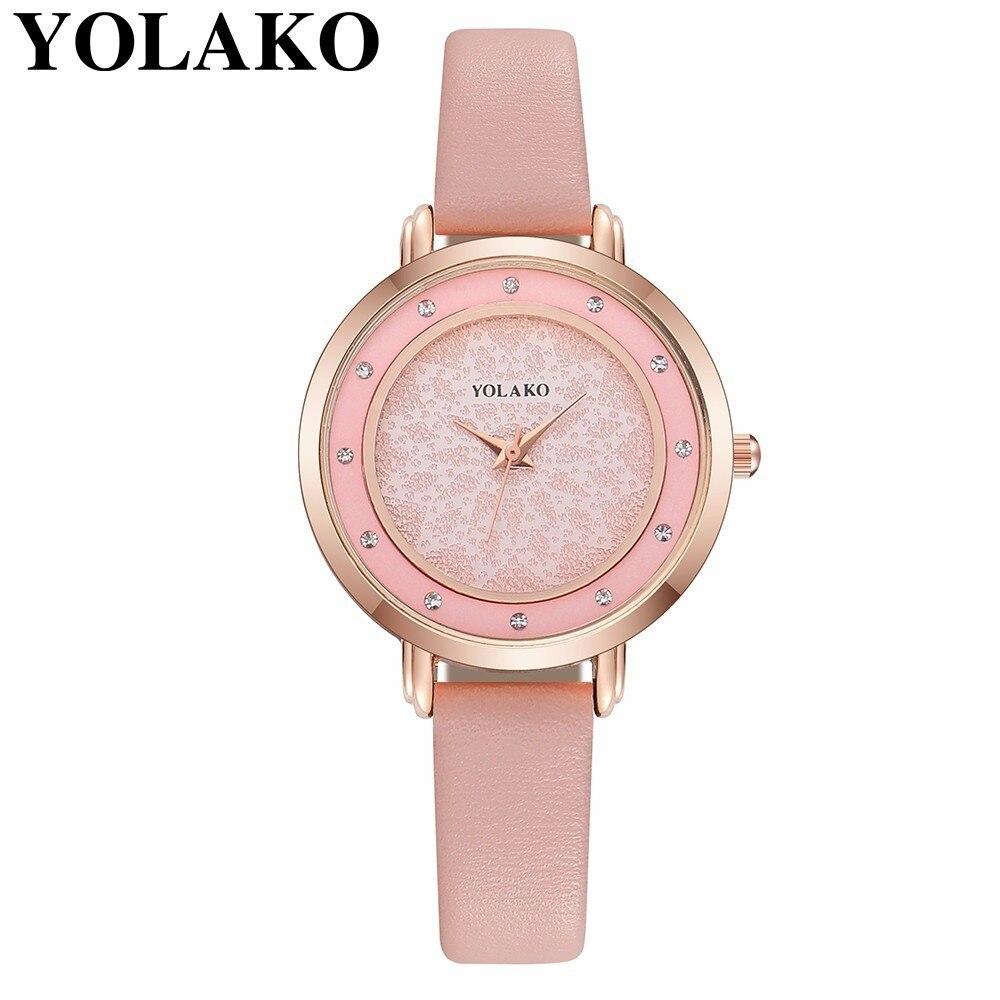 Yolako Marke Frauen Starry Sky Uhr Luxus Mode Damen Leder Quarz Armbanduhr Reloj Mujer Relogio Feminino Um Eine Reibungslose üBertragung Zu GewäHrleisten Uhren