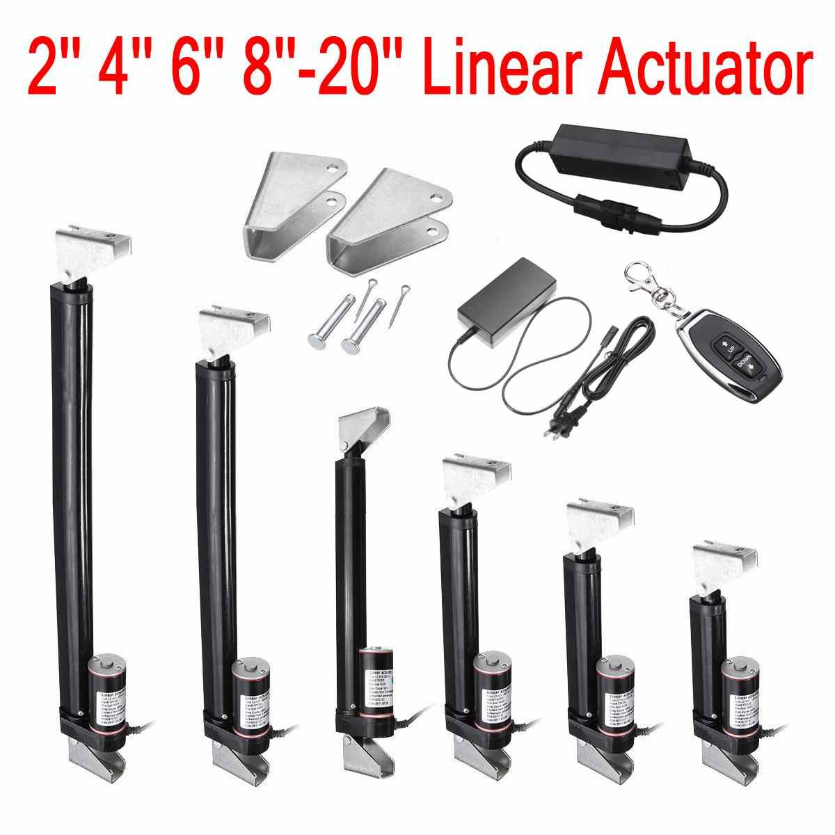 2-16 Inch 900N 225Lbs Black Linear Actuator Stroke Max Lift Output 12V DC 7-10mm/s Electric Linear Actuator Motion Controller