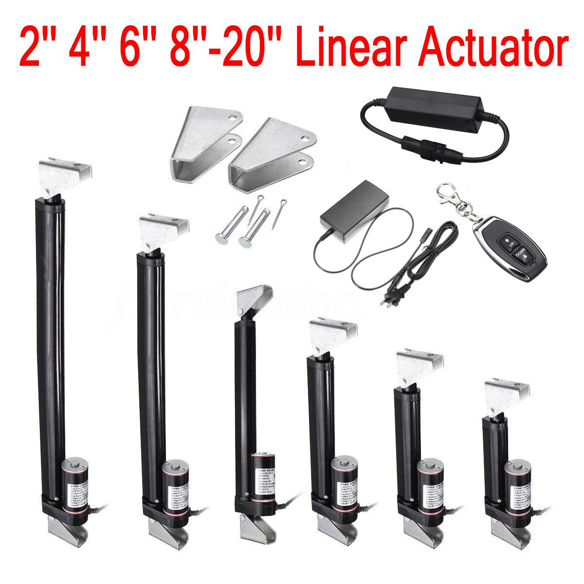 Tonysa Linear Actuator DC 12V Linear Actuator 80KG Max Lift 50mm Stroke Electric Motor with Built-in Stroke Switch for Medical Auto Car