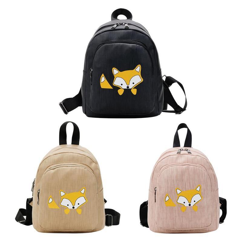Cute Cartoon Fox Print Backpacks Women Travel School Bags Girls Book BagsCute Cartoon Fox Print Backpacks Women Travel School Bags Girls Book Bags