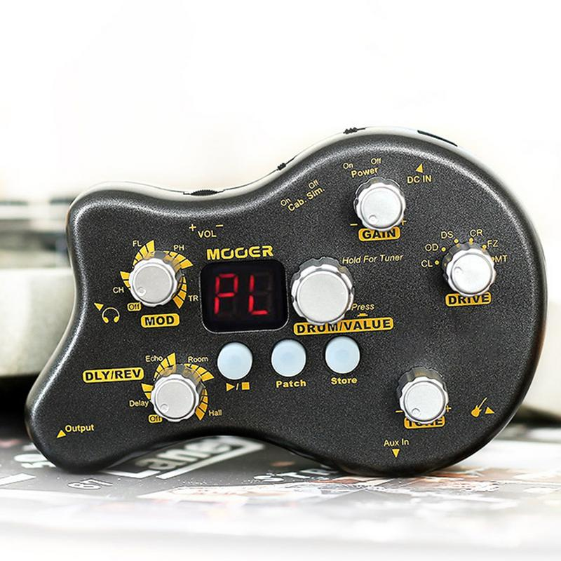Mini Electric Guitar Integrated Effects Delayed Reverb With Tuning Drum Machine Effectors Musical Instrument Guitar Parts