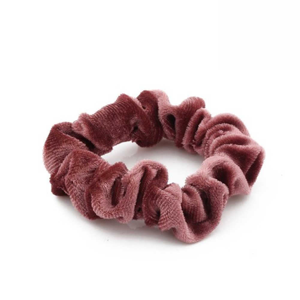 Aksamitne elastyczne gumki do włosów miękkie włosy Scrunchie kucyk Donut Grip Loop Holder rozciągliwy pasmo włosów kobiety akcesoria do włosów