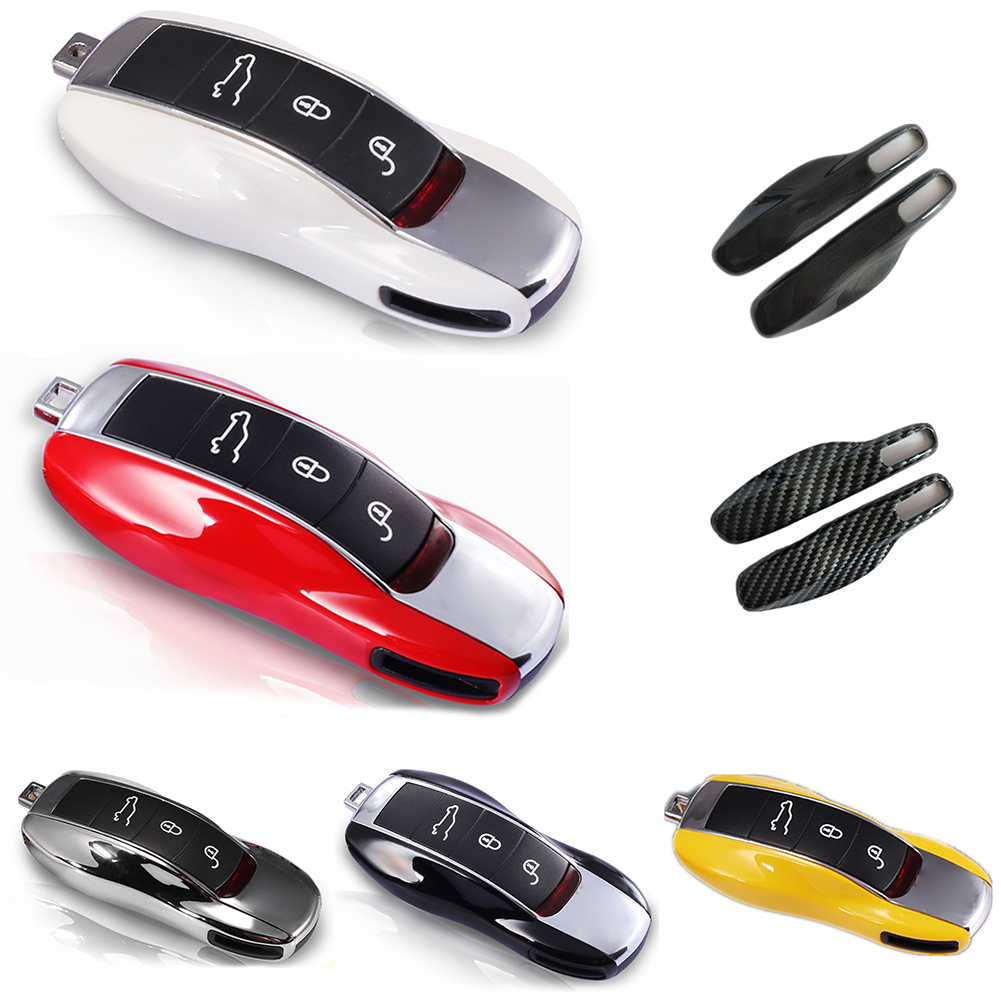 Remote Smart Key Shell Holder Cover For Porsche Cayenne Cayman Macan Boxster Car Key Case Casing Side Shell Cap Fob Protection