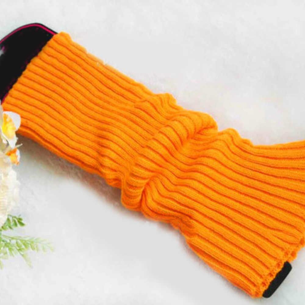 Kadın Kış sıcak tutan çoraplar Tığ Örme bot paçaları Toppers Yün Trim Bacak Isıtıcıları kadın giyim Aksesuarları