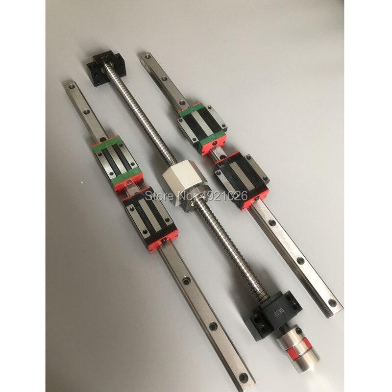 6 ensemble Carré Linéaire glissière de guidage HGR20-400/860/1240mm + SFU1605-350/800/ 1120/1120mm vis à billes + BK BF12 CNC pièces