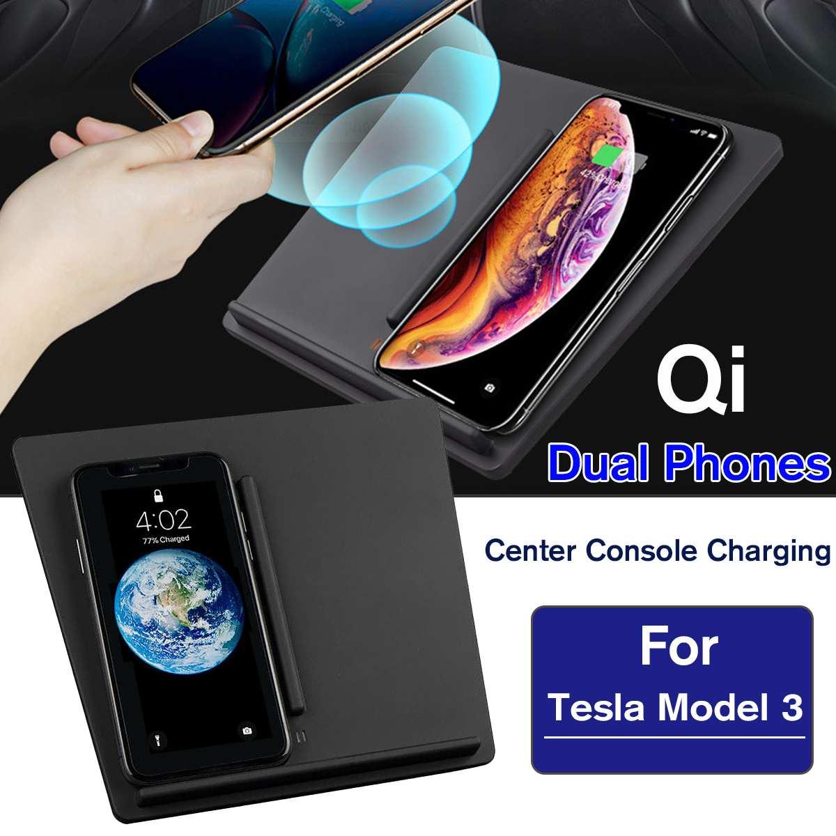 Wireless Phone Device Charging Dock Center Console Charger for Tesla Model 3 Wireless Phone Device Charging Dock Center Console Charger for Tesla Model 3