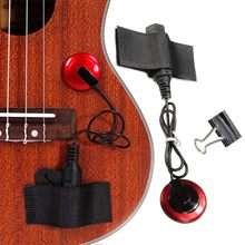 1/4 inch jack Professional Piezo Contact Microphone Pickup with Clamp For Acoustic Stringed Instrument Guitar Violin Banjo(China)