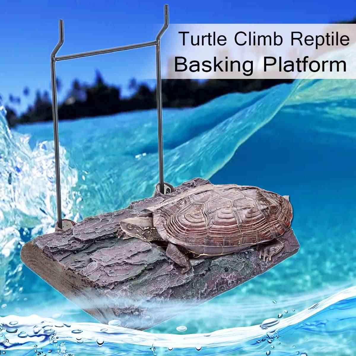 Aquarium Turtle Bask Terrace Island Platform Tank Reptile Dock Decor Aquarium Ornaments Tank Accessory