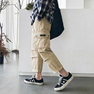 Image 2 - Мужские шаровары с принтом, модные эластичные хлопковые повседневные брюки в стиле хип хоп, спортивные штаны для бега, большие размеры, M 5XL, 2019