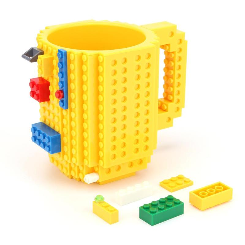 350ML Build-On Brick Mug Pen Holders Type Building Blocks Coffee Cup DIY Block Puzzle Mug Drinkware Pencil Holder Dropshipping