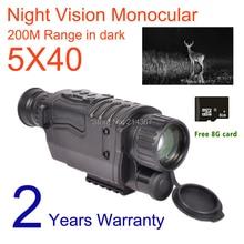 WG540 5MP ночное видение Монокуляры с г 8 г TF карты полный темно м 200 м Диапазон охота видео камера регистраторы китайский поставщик