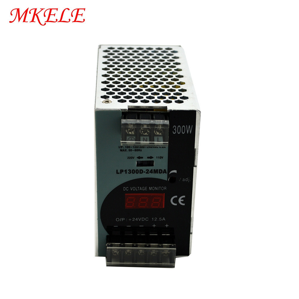 300W 24V 12.5A Digital Display Switching Power Supply Makerele LP-300-24300W 24V 12.5A Digital Display Switching Power Supply Makerele LP-300-24