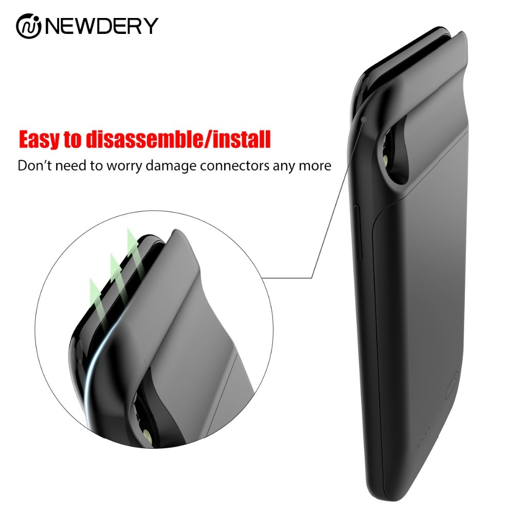 New arrival power bank case for iphone X XS Max 6000mAh detachable charger case for Iphone 10 backup battery case for Iphone XR