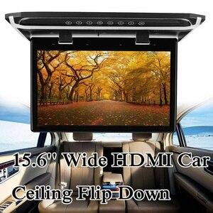 """Image 2 - Monitor de techo abatible hacia abajo para coche, 15,6 """"de ancho, HDMI, montaje en techo, Monitor abatible hacia abajo, 1920*1080"""