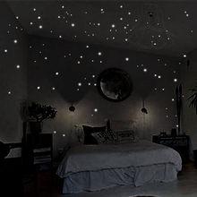 407 шт стикер на стену s Настенный декор светится в темноте звезда Виниловая наклейка для детской комнаты