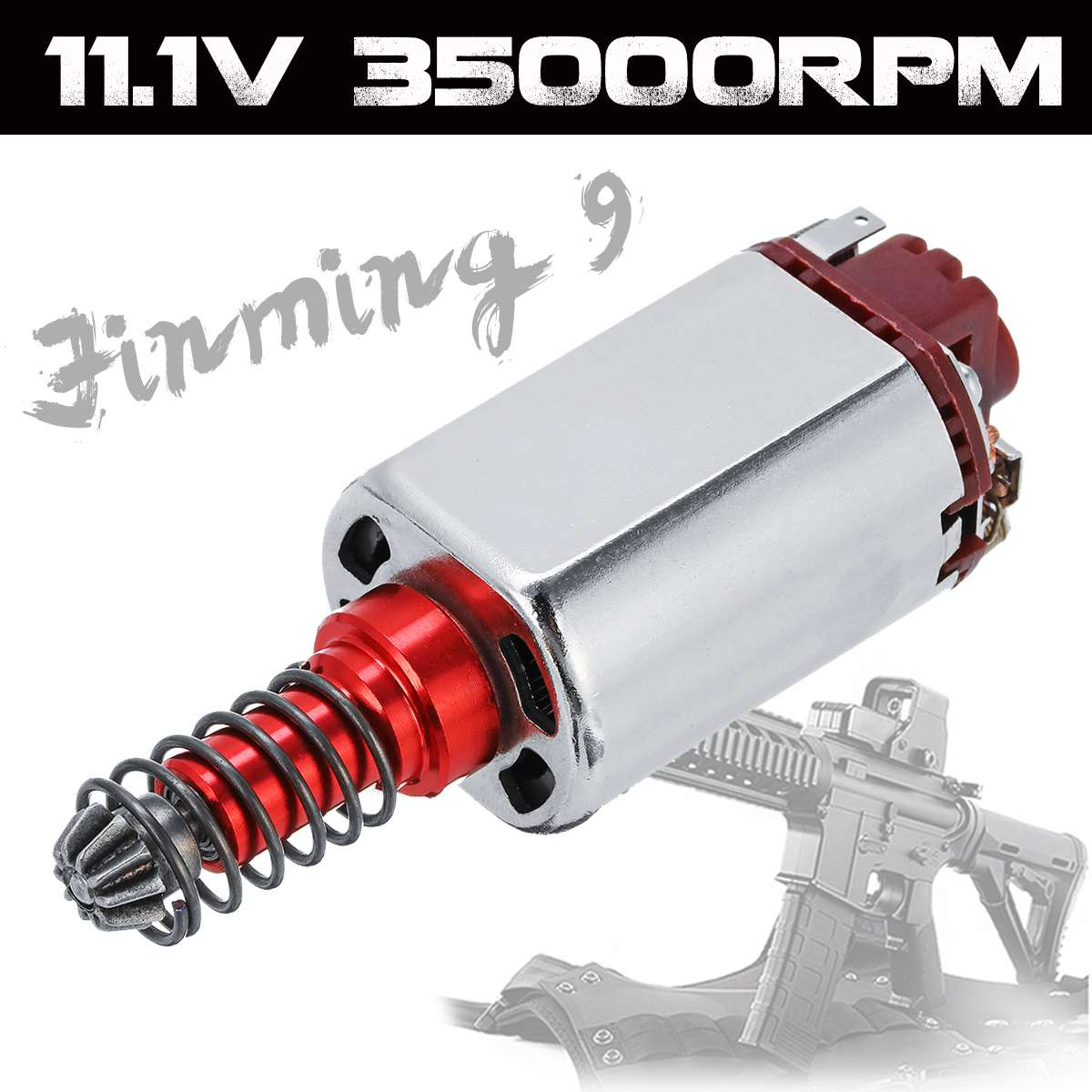 DC 11.1V 35000RPM 460 Motor For Jinming 9 M4A1 Gearbox Game Water Gel Ball Blasters Toy Guns Replacement Accessories