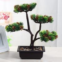 Christmas simulation welcoming pine plant potted fake bonsai cypress small tree interior bonsai