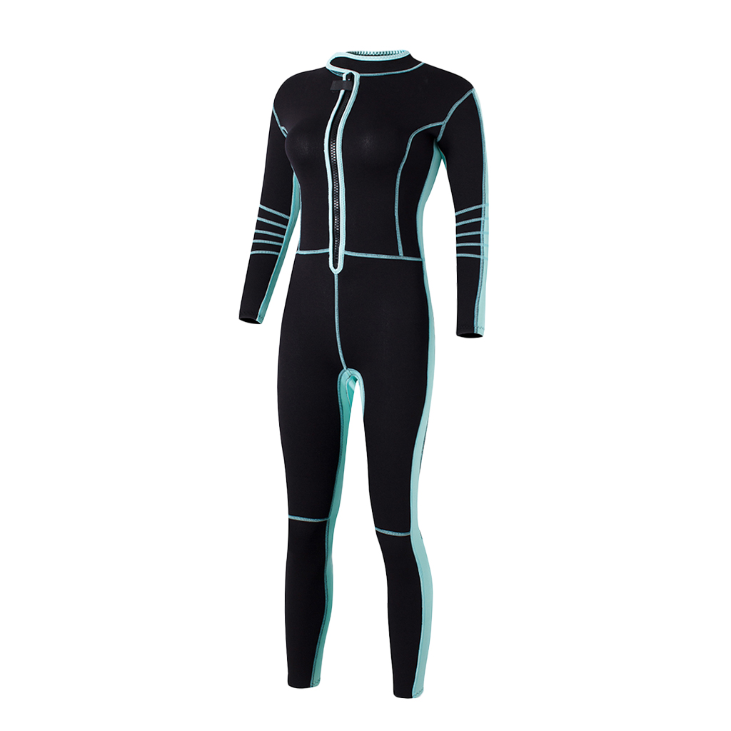 Womens Wetsuit Full One piece 3mm Neoprene Surfing Scuba Diving Snorkeling Swimming Long Sleeve Suit