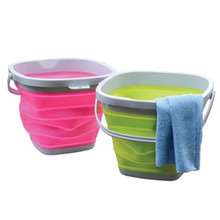 Folding Bucket Thick Silicone Fishing Kitchen Bathroom Supplie Portable Bucket for Outdoor Fishing Camping Car Wash Random Color