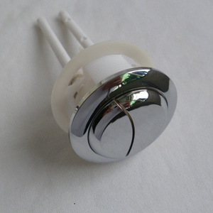 Image 4 - Depósito de agua para inodoro de 38/48/58mm con doble botón de descarga, 2 varillas de ABS de 70mm con forma de media luna, botón de 114mm para cubierta de Depósito