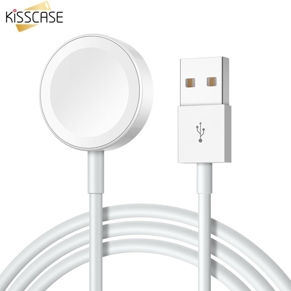 1c3cb61c71f Cheap KISSCASE cargador inalámbrico para Apple Watch 2 3 1 reloj magnético  Cable de carga rápida