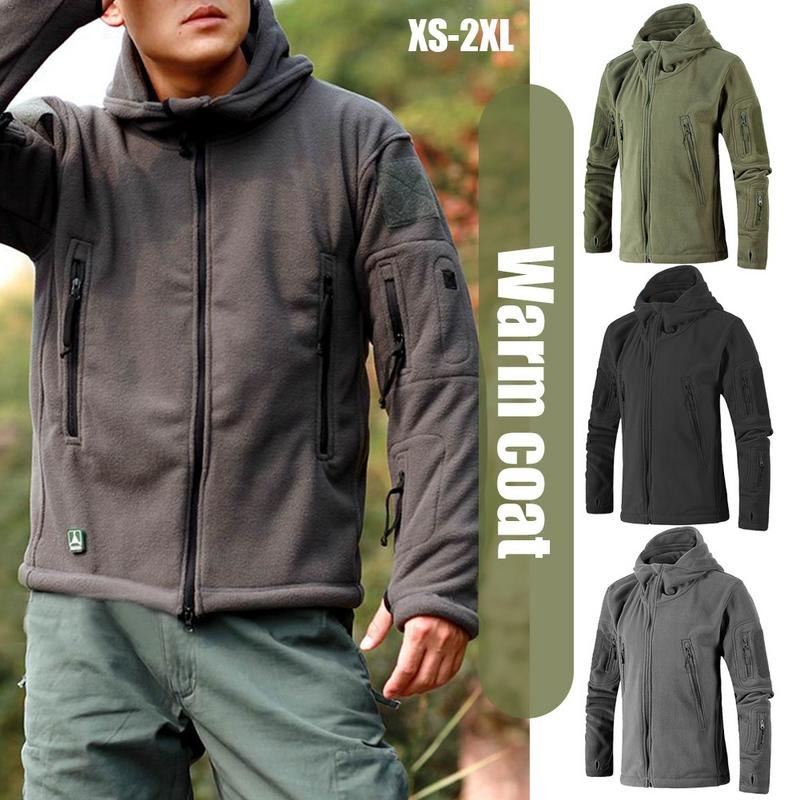 ac99e892ec296 Men Jacket Coat Military Tactical fleece jacket Uniform Soft Shell Casual  Hooded Jacket Men Thermal army Clothing