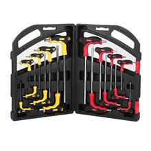 16 Pcs T Bar Handvat Spanner Set Star Torx & Hex Ball End Schroevendraaier Kit