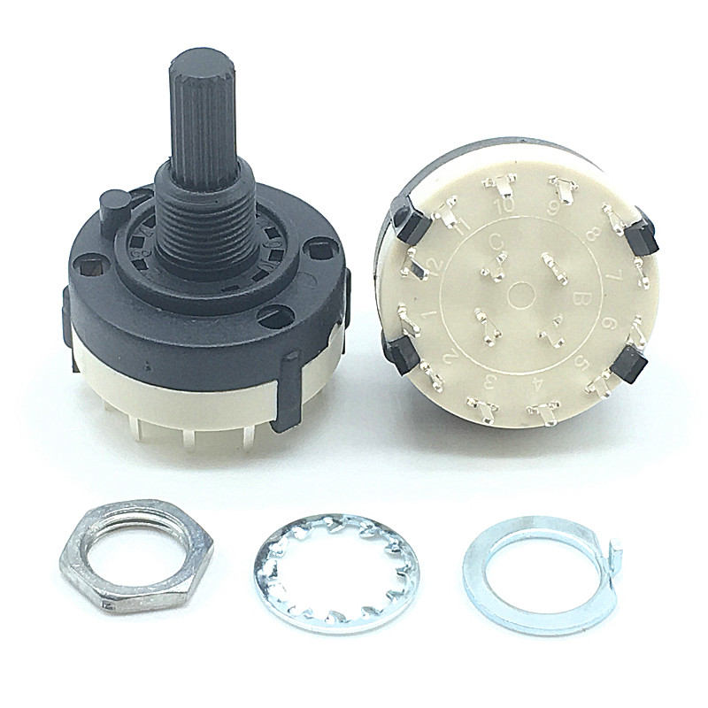 Lights & Lighting 2pcs High-quality Rs26 3 Pole Position 4 Selectable Band Rotary Channel Selector Switch Single Deck Rotary Switch Band Selector Factories And Mines Switches