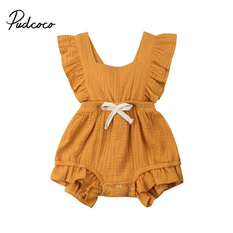 350c37d29 Mini arco mamelucos de bebé otoño princesa ropa de bebé recién nacido para  0-2Y niñas mono sin mangas trajes de niños ropa 2019