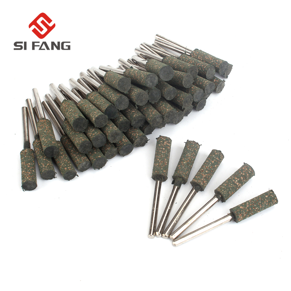 SI FANG Shaft Mounted Rubber With Abrasive Grinding Head Head Diameter 5mm For Dremel Rotary Tools And Mold Fine Polishing