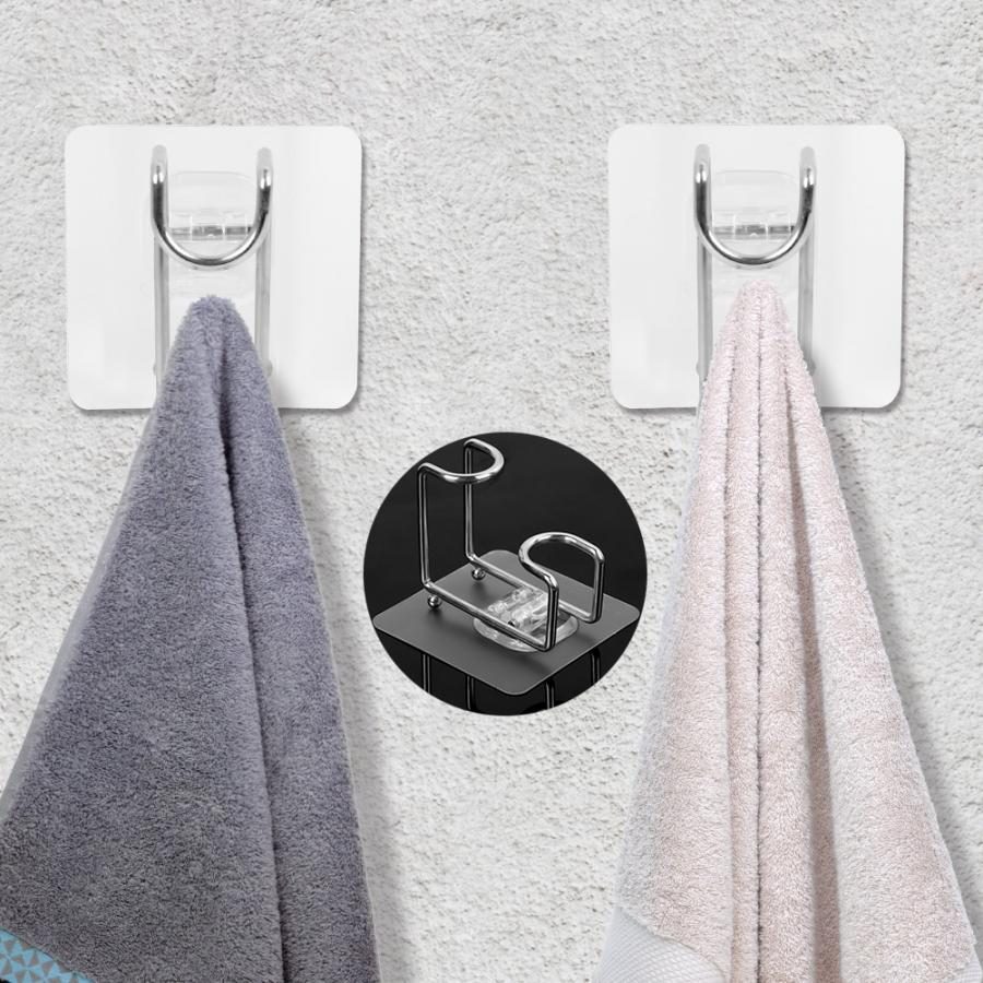 Multifunctional Trace-less Sucker Hook Hanger For Towel Washbasin Wall Mounted Wall Shelves For Kitchen Bathroom Suction Cup Rag