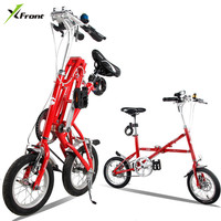 New Brand 12/14 Inch Carbon Steel Fast Folding Bike Road Bicicleta Quality Children Mini Bicycle
