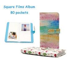 Fujifilm Instax álbum de fotos con 80 bolsillos, películas cuadradas, Instax SQ6 10 20 SP 3, álbum de fotos de cámara instantánea