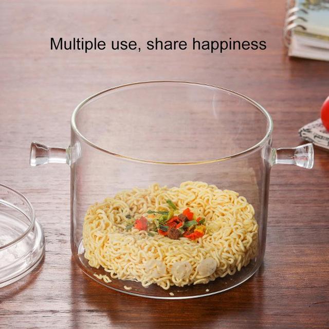 Transparent Glass Soup Pot