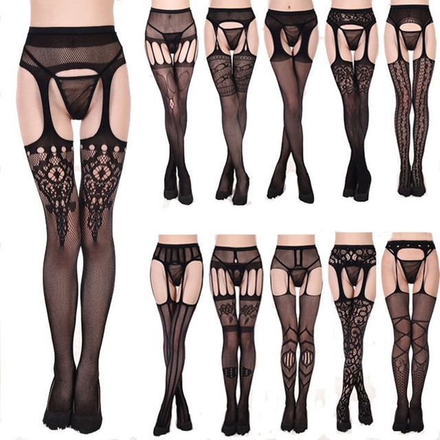 b8d8114ad Women Ladies Black Fishnet Tights Net One Size Pattern Burlesque Hoise  Pantyhose
