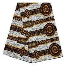 Африканский воск печати ткань воск настоящий голландский воск настоящая ткань настоящий шотландский вощеный хлопок Горячая африканская Анкара ткань для платьев