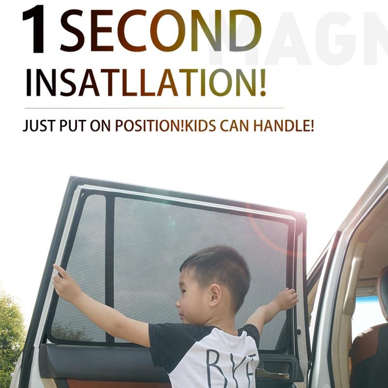For Renault Koleos&Kadjar&Vauxhall Mokka X&Tivoli Compact Car Curtain Black Magnetic Car Side Window SunShades Mesh Shade Blind(China)